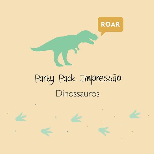 Dinossauros - Party Pack Impressão