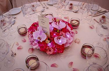 décoration table fleus