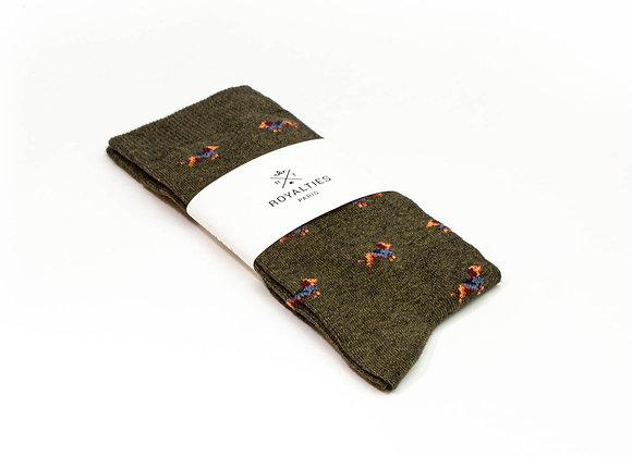Royalties Sherlock Kaki Socks