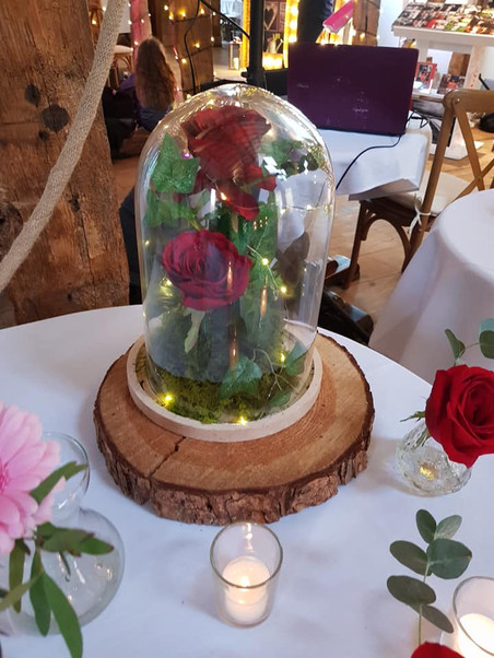 Rose in Glass Jar, with Lights.jpg