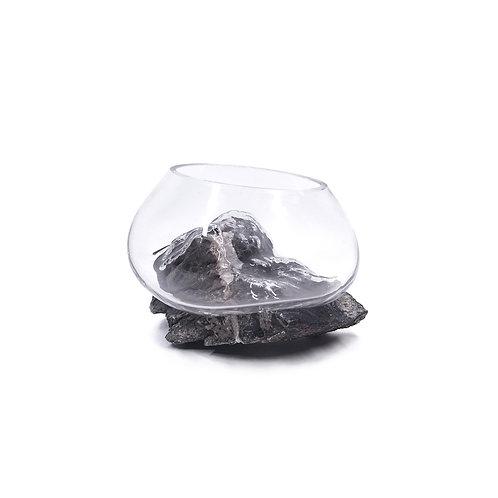 不規則藝術玻璃石材擺設(款式隨機)