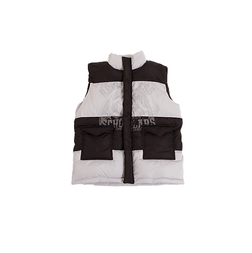 Scholars Stripe Divorce Puffer Vest