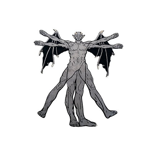 Scholars Vitruvian Gargoyle Rug