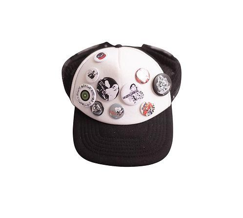 A lot of badges trucker hat