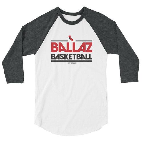 BALLAZ BASKETBALL 3/4 sleeve raglan shirt