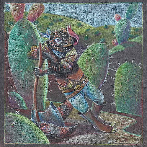 gila monster, new mexico art series