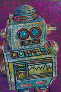 Colorful toy robot