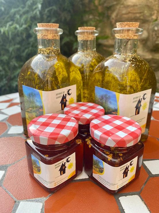 Öl und Marmelade