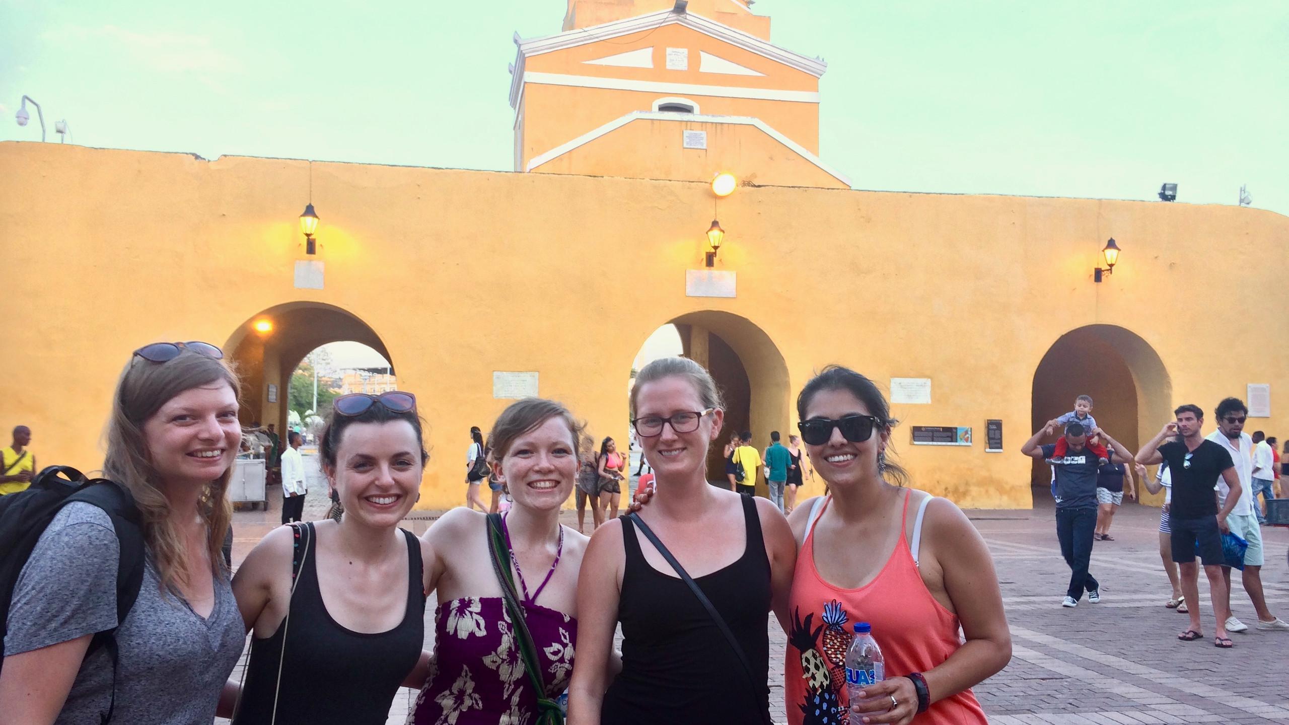 PhD students at the Cartagena clock