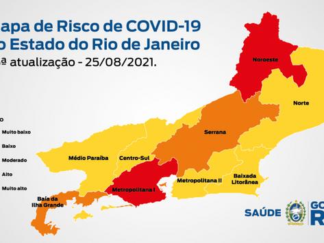Secretaria de Saúde eleva classificação de risco no estado do Rio