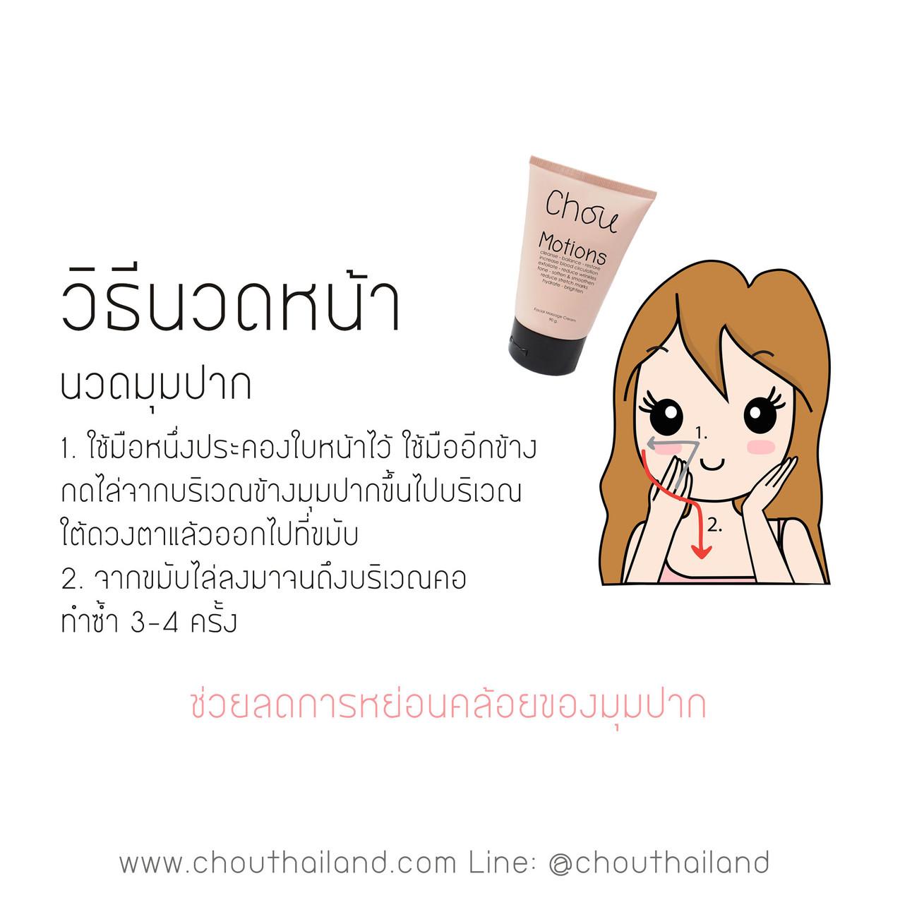 Motions Massage cream 7 Mouth massage
