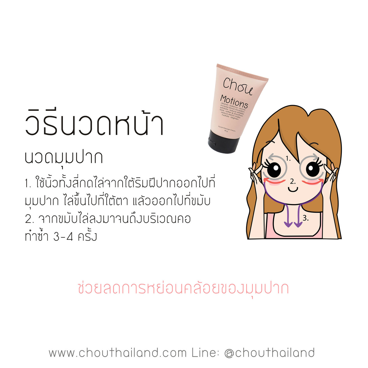 Motions Massage cream 6 Mouth massage