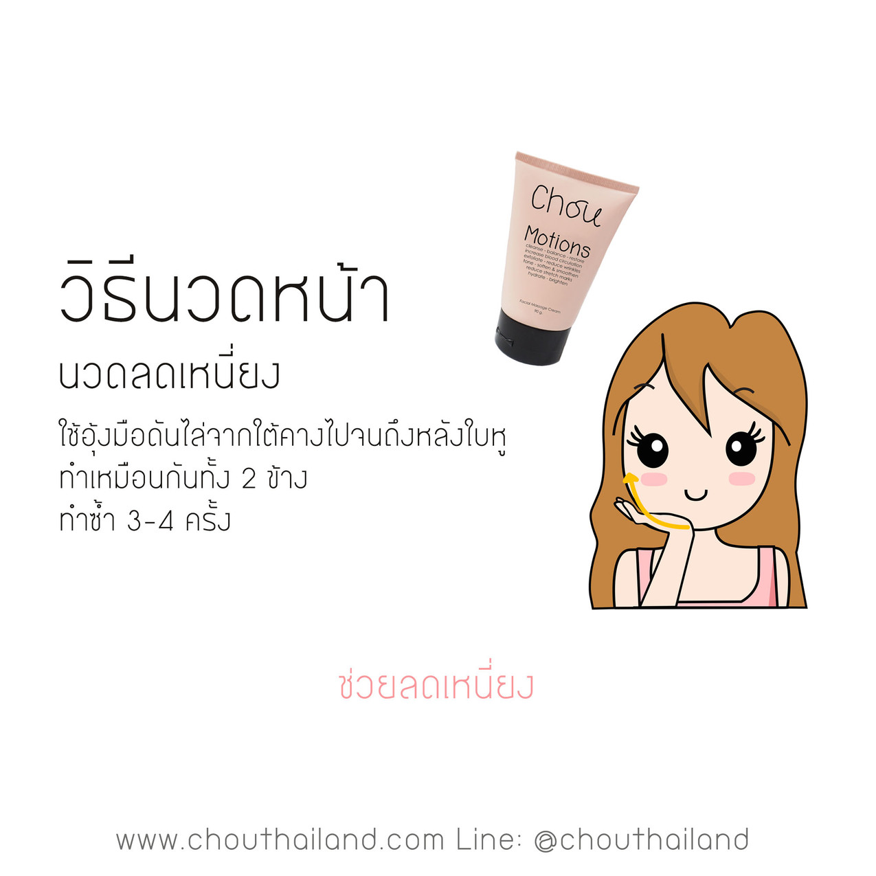 Motions Massage cream 12 double chin massage