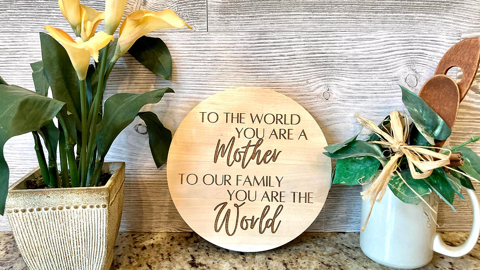 You are the World Circle Wall Decor