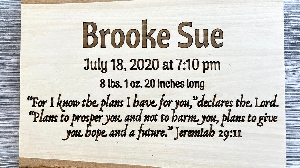 Baby Name Personalized Wall Decor