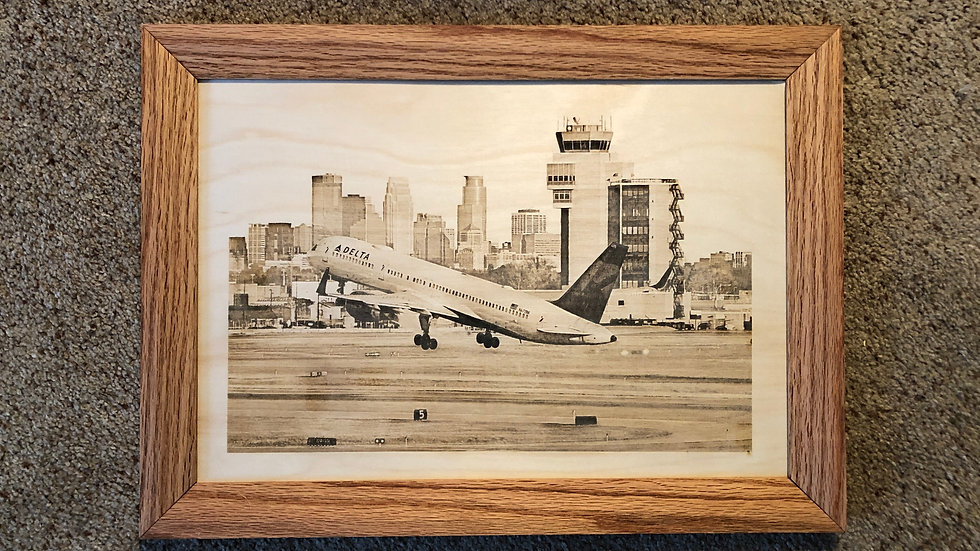 Lasered  Photo (Oak Frame)
