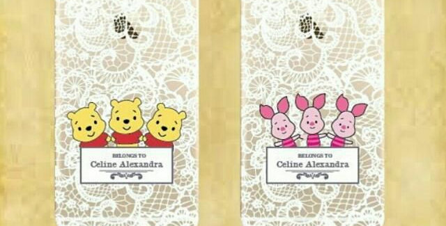 Winnie Pooh Character Lace Collection