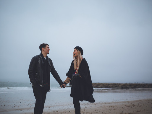 Couples shoot on Sandbanks Beach, Dorset | Bournemouth Wedding Photographer
