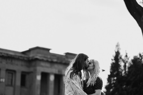 Olivia and Sydney Engagement shoot at th