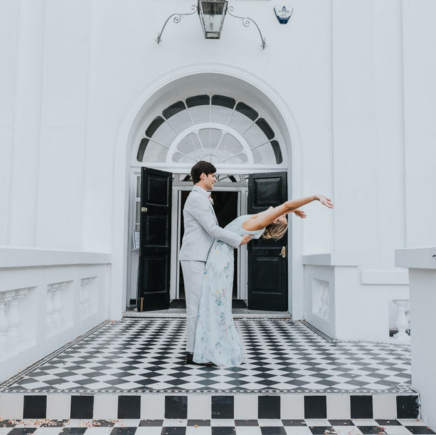Bride and groom at belair house