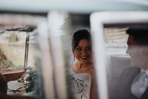 Documentary wedding photography: Just married