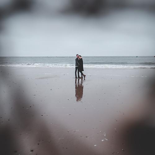 Nes and Mikey, Sandbanks Beach