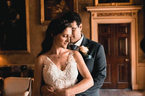 Syon house wedding photographer: moody portrait
