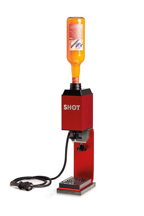SHOT mit Standfuss und Flaschenadapter