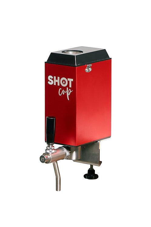 SHOT CUP mit Thekenhalterung und Flüssigkeitsbehälter