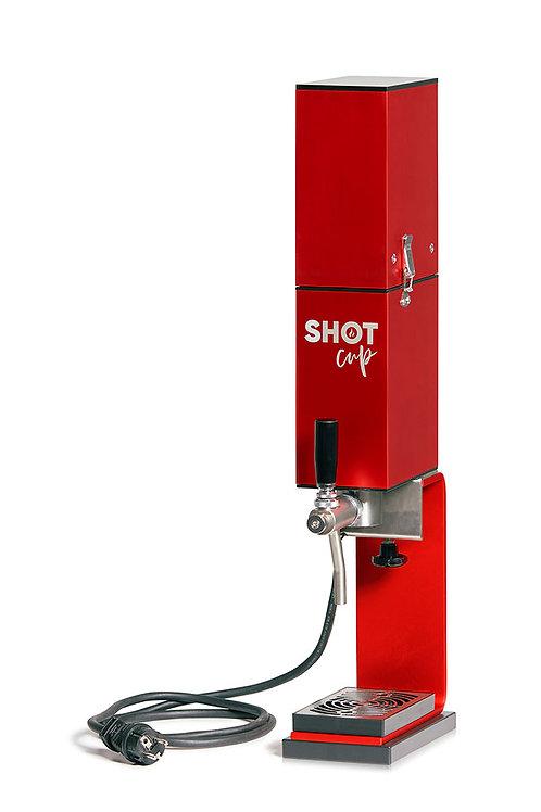 SHOT CUP mit Standfuss und Getränkepumpe