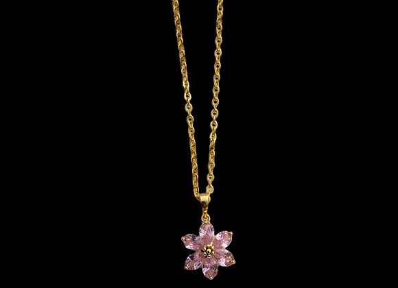 CZ Pink Flower