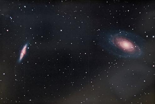 星空ポストカード「ポーデの銀河と葉巻銀河」1枚