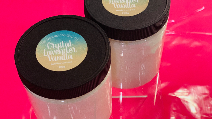 Crystal Lavender Face and Body Scrub