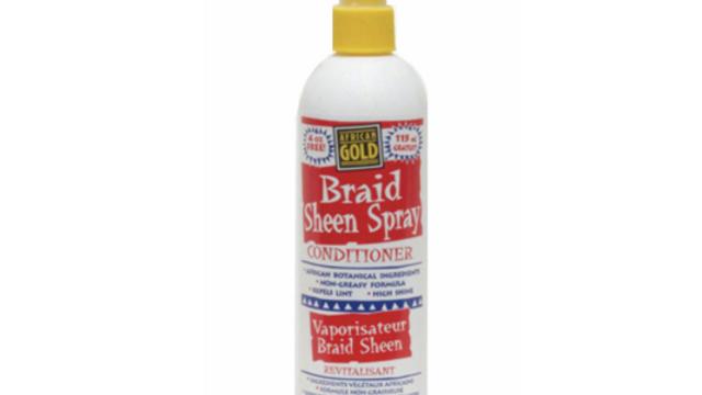 African Gold Braid Sheen Spray 12oz