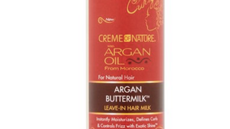 Creme of Nature Argan Oil Buttermilk Leave-In Hair Milk, 8 oz
