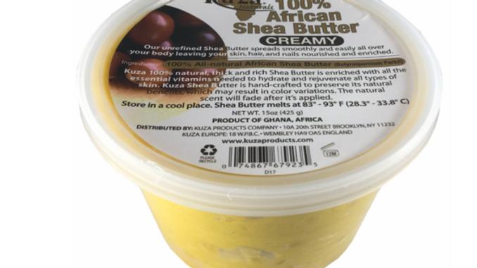 Kuza Naturals 100 % African Shea Butter Creamy Yellow 15oz