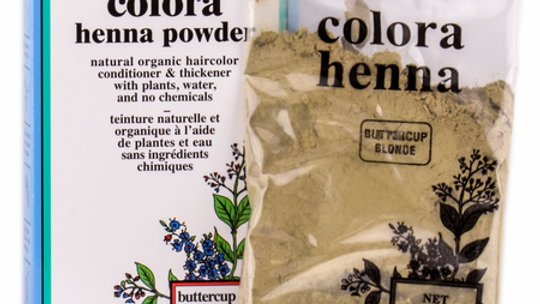 Colora Henna Powder Natural Organic Hair Color Buttercup Blonde 2 oz