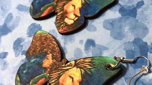 Mane Attraction Butterfly earrings