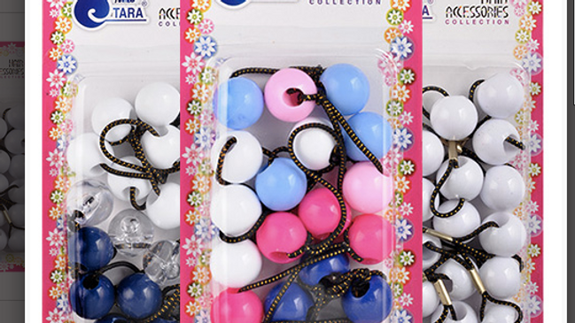 Kid Ball Ponytail Holders 10Pcs