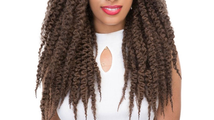 Janet Collection Synthetic Hair Crochet Braids 2X Afro Montego Twist Braid 18in