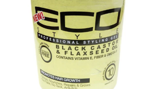 eco styler black castor and flaxseed oil styling gel 16oz