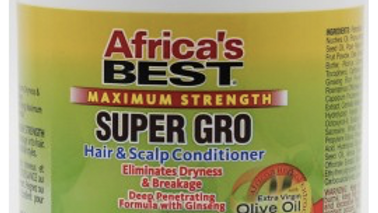 Africa's Best Maximum Strength Super Gro Hair and Scalp Conditioner 5.25oz