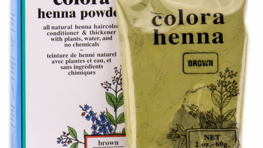 Colora Henna Powder Natural Organic Hair Color Brown 2 oz