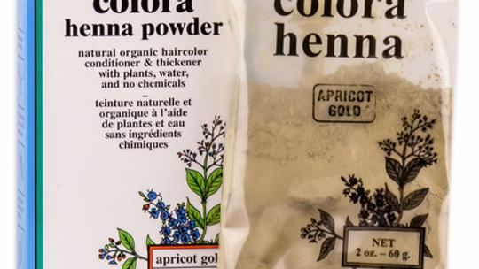 Colora Henna Powder Natural Organic Hair Color Apricot Gold 2 oz