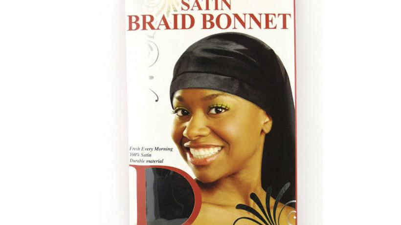 Dream Satin Braid Bonnet Black