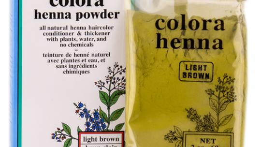 Colora Henna Powder Natural Organic Hair Color Light Brown 2 oz