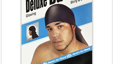 Dream Du-rag Deluxe Smooth and Thick Black Glowing