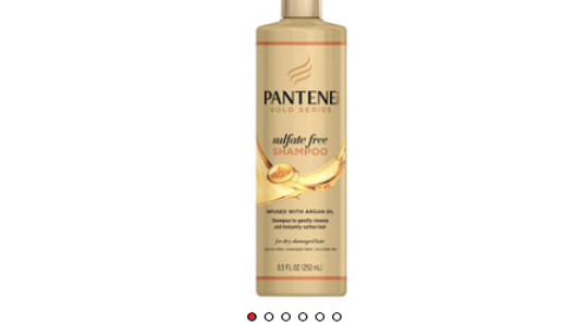 Pantene Gold Series Shampoo Sulfate-Free 8.5oz