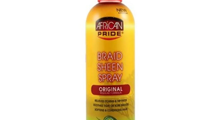 African Gold Braid Sheen Spray 12oz