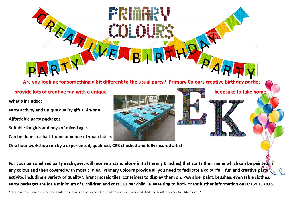 Really exciting news, a creative workshop party activity accessible to all.